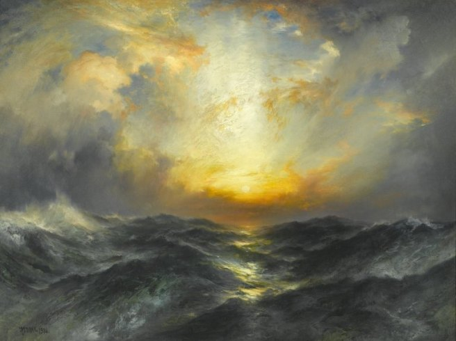 Brooklyn_Museum_-_Sunset_at_Sea_-_Thomas_Moran_-_overall