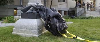 Toppled Confederate Statue